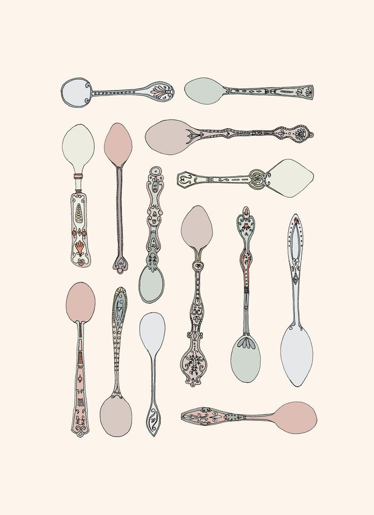 ornate teaspoon design - things organized neatly