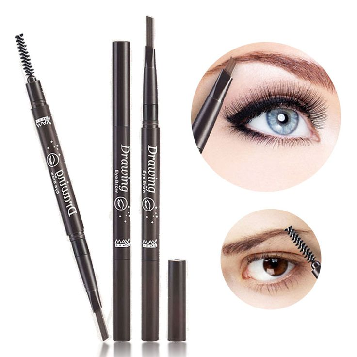 5 Colors Eyebrow Pencil Waterproof Long-lasting Eye brow Enhancer With Brush ABH Makeup Cosmetic Tool Automatic Pencil