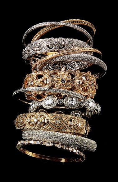 I love all of these bangles - especially the pave one