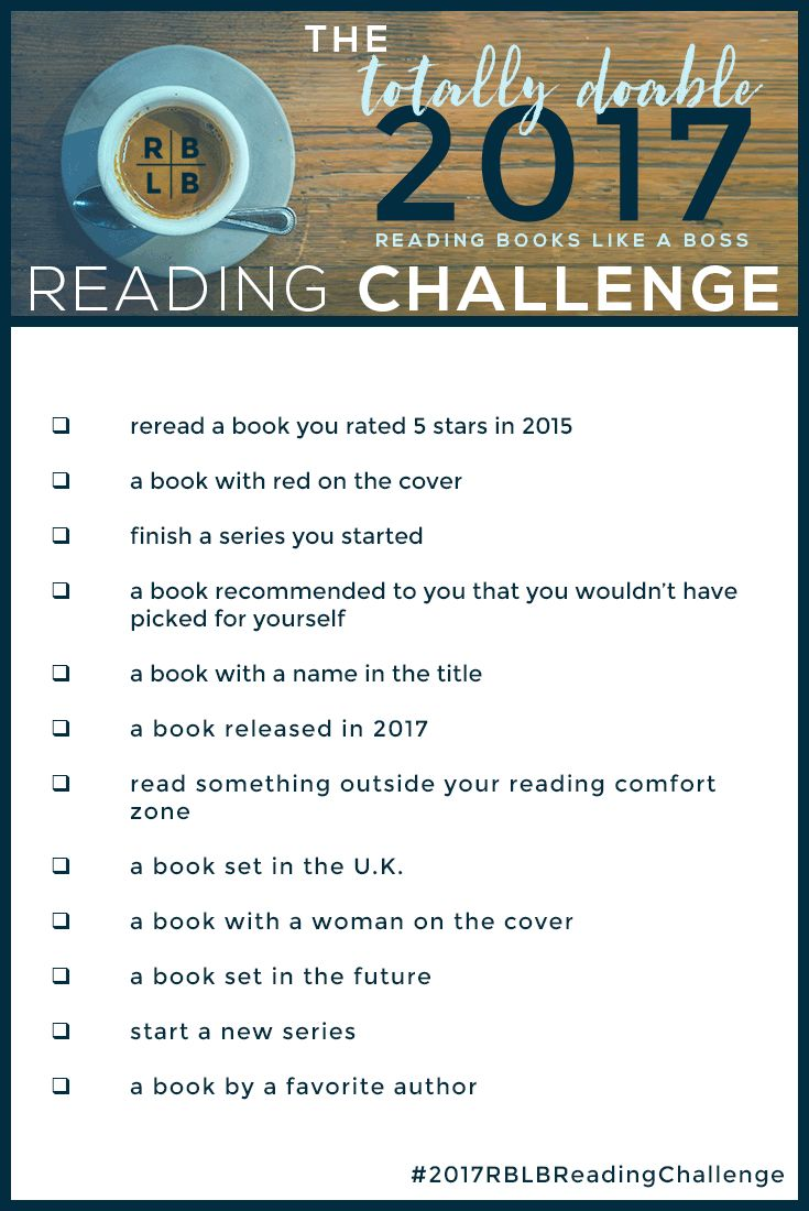 The Totally Doable 2017 RBLB Reading Challenge   Reading Books Like a Boss