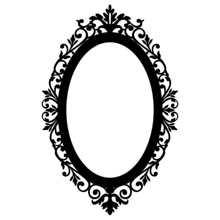 Ornate Oval Frame | Details about Ornate Oval Frame Wall Stickers / Wall Decals