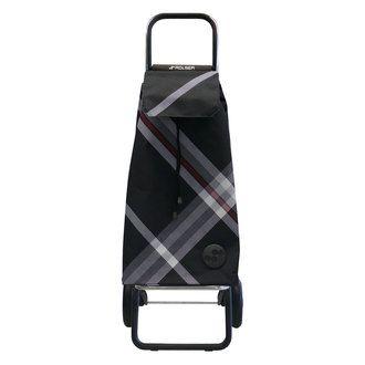 Poussette de marché 2 roues avec sac en tissu imprimé et châssis en aluminium 59L Bora Rolser port offert vente privée