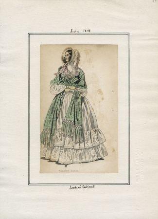 Casey Fashion Teller Detail | Öffentliche Bibliothek von Los Angeles Juli 1841 Damenkabinett