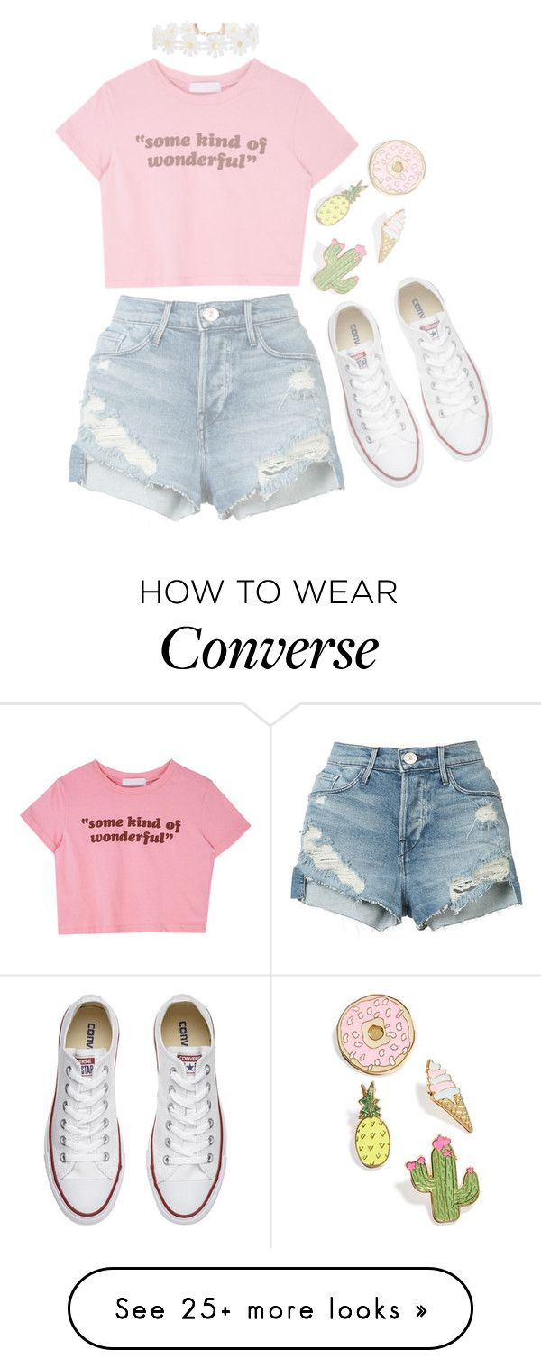 """Untitled #82"" by fiona137 on Polyvore featuring Converse, 3x1, Humble Chic and Celebrate Shop"