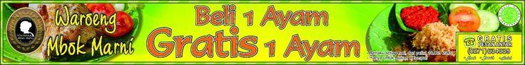 Promo beli 1 ayam gratis 1 ayam di cabang slamet riyadi 121 solo (depan SMP Bintang Laut) & Slamet Riyadi 626 kleco solo (samping warnet google) untuk info hub 634339