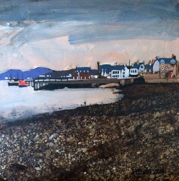 Stephen French Beach Crescent, Broughty Ferry I  Acrylics   Scottish Contemporary Art