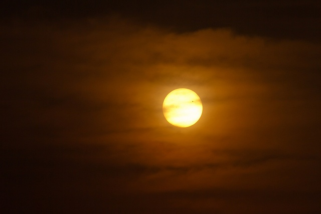 Celestial bodies in the clouds.Celestial Body