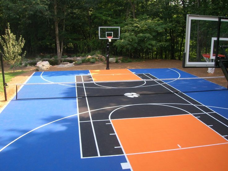 Backyard Basketball and Tennis Court.. just maybe less color happening, seems distracting for tennis!