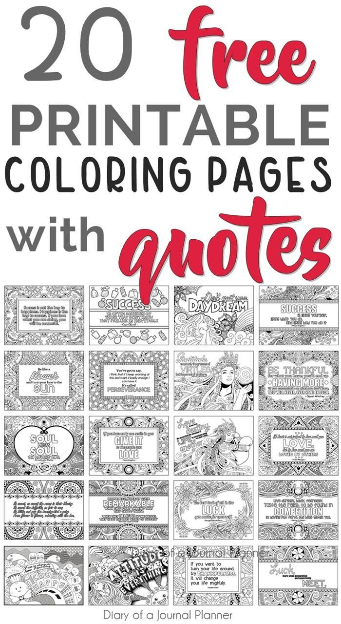 Printable Quote Coloring Pages 20 Free Coloring Quotes Quote