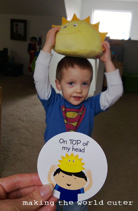 Teaching Positional Words to Toddlers with ThinkFuns Hello Sunshine Game