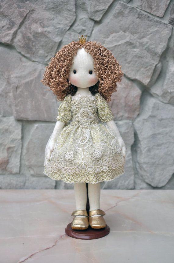 SALE!!! Princess ,Textile doll, decorative doll,collectible dolls, doll cotton, rag doll, art doll