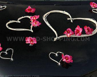 Burgundy Rose Wedding decorazione auto con di BridalJackets