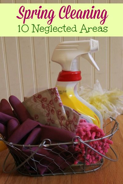 Spring Cleaning List - The 10 Neglected Areas: A list of 10 spots that are often missed during spring cleaning and tips for cleaning these overlooked areas. | Premeditated Leftovers