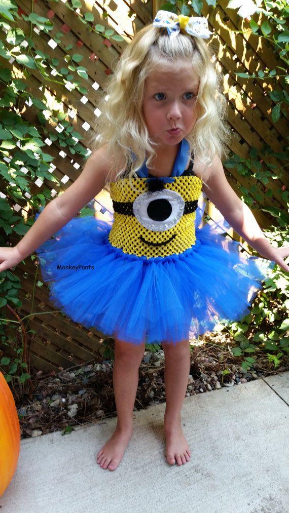 Minion Tutu Dress Girl Minion Costume by MonkeyPantsPartyHats