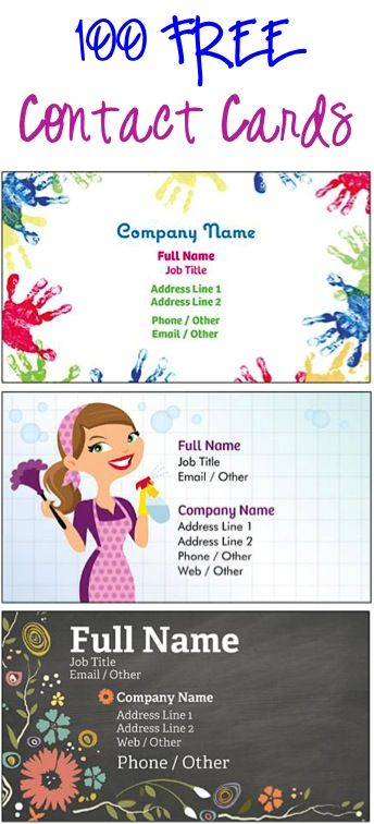 100 FREE Contact Cards or Business Cards! {just pay s/h}