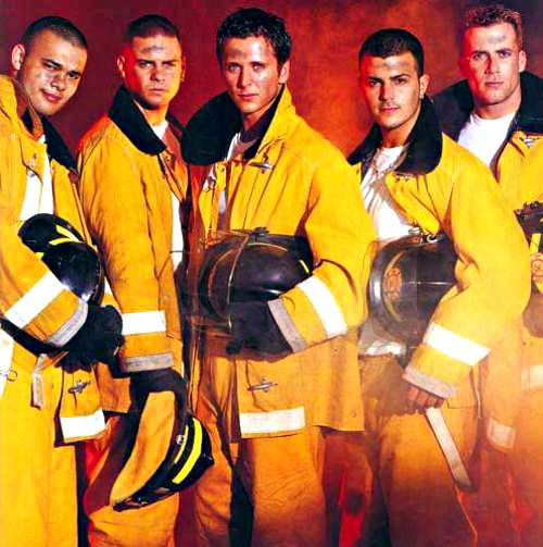 5ive - five as fire fighters! ♥
