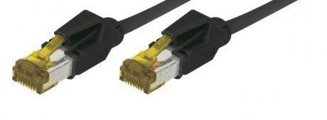 cable rj45 s/ftp noir 1m categorie 7