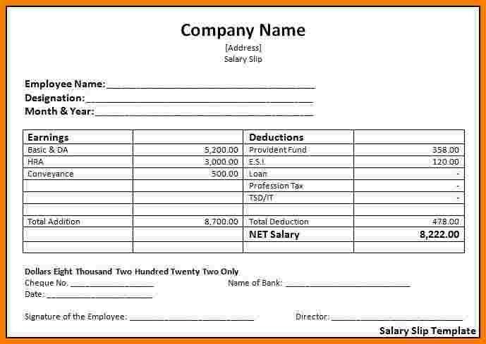 6 Salary Payslip Template Excel Sales Slip Template Invoice Template Word Invoice Template Invoice Design Template