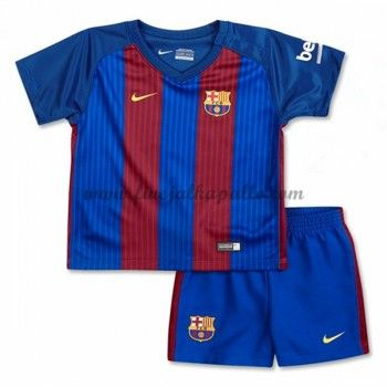 Barcelona Lasten Jalkapallo Pelipaidat 2016-17 Kotipaita