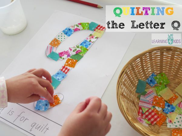 quilting the letter q this activity was inspired by reading the story the quilt by