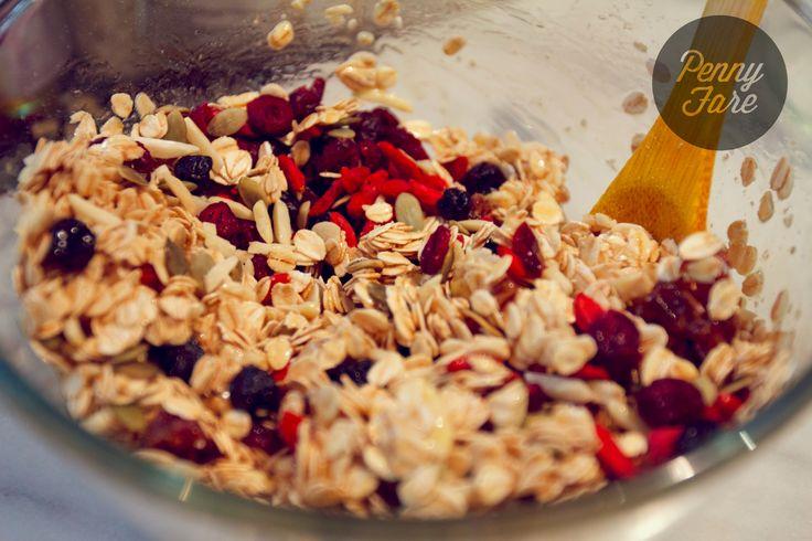 Homemade granola: in progress.