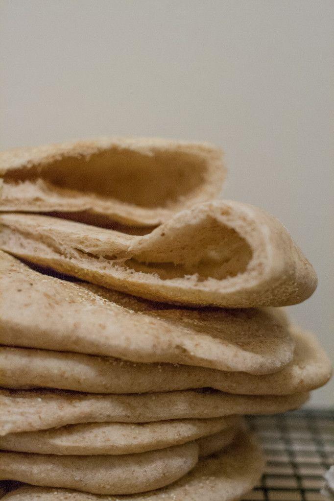 Whole Wheat Pita Bread | Fun foods | Pinterest