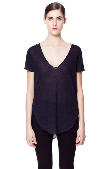 Image 1 of SOFT TOUCH T-SHIRT from Zara