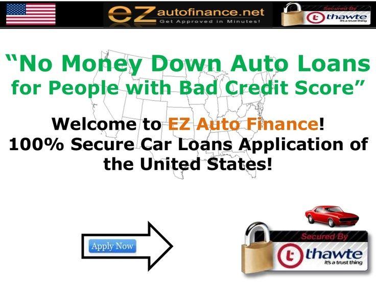 No money down car loan for bad credit at www.ezofofinance