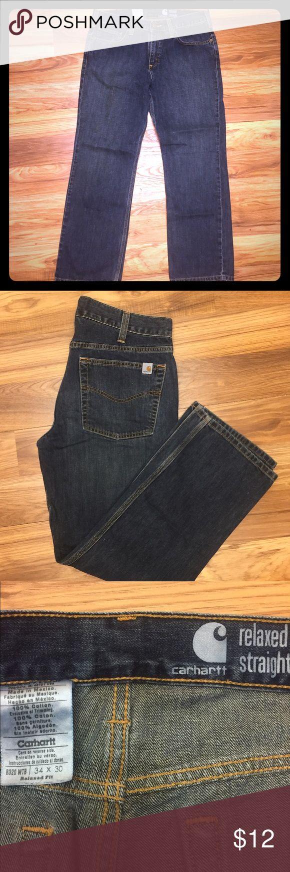 Men's Carhartt jeans Men's relaxed straight Carhartt jeans. EUC. Size 34x30. Carhartt Jeans Relaxed