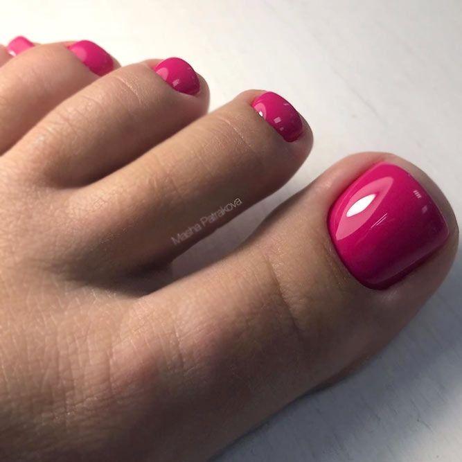 40 Amazing Toe Nail Colors To Choose In 2019 Nails Toe Nail Color Pink Toe Nails Pedicure