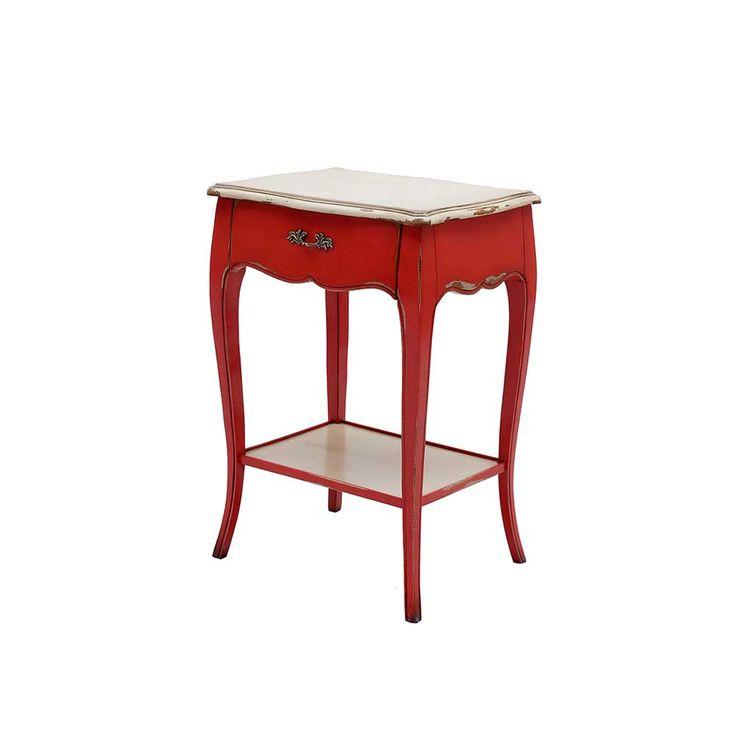Barock Beistelltisch in Rot Weiß antik Jetzt bestellen unter - esstisch antik designer moebel