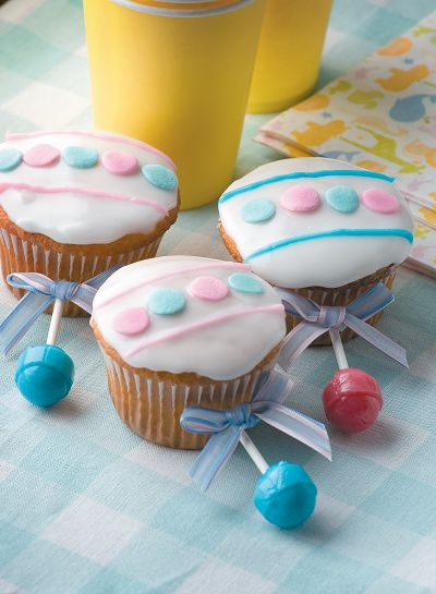 ... baby rattle cupcakes baby
