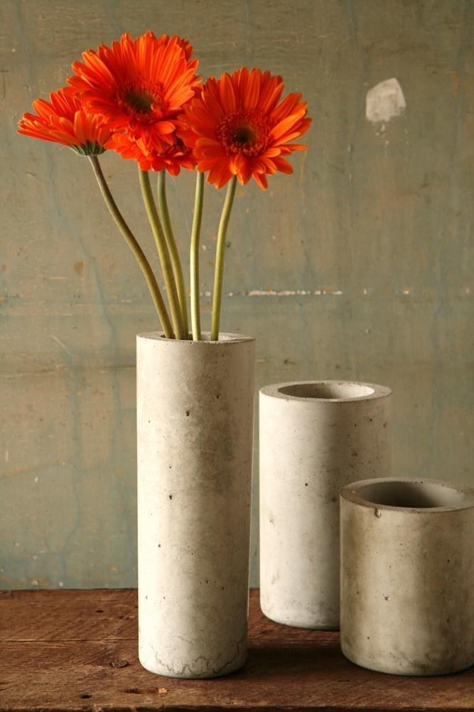 Concrete Cylinder Vase