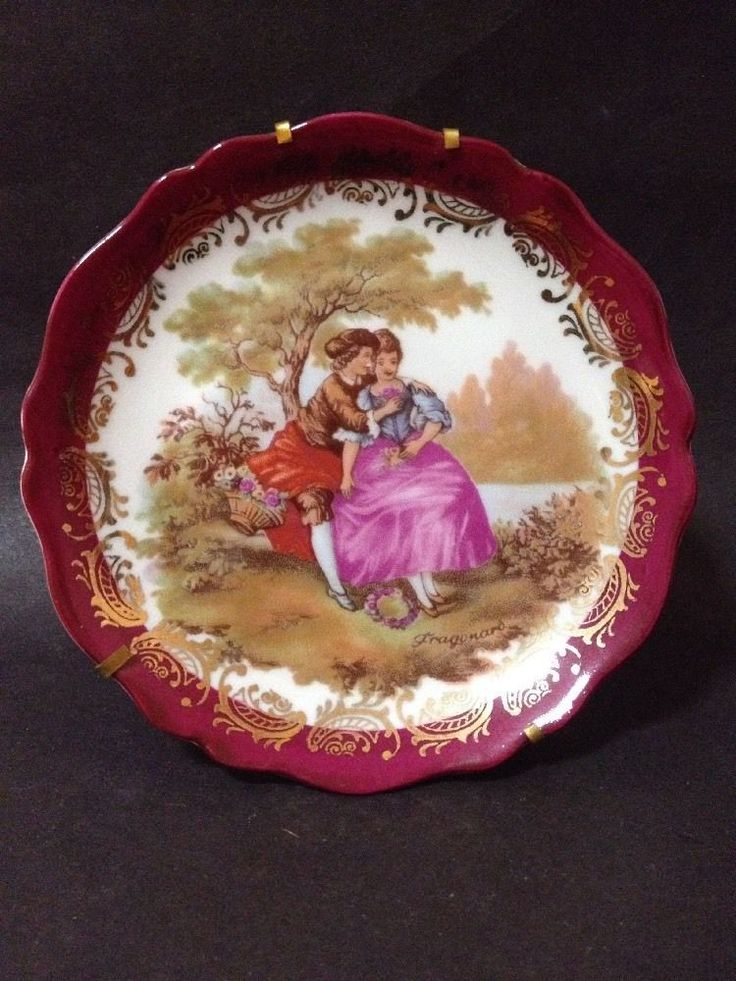 Estate Find - Limoges Plate with Stand & Hanger 2 in 1 - Excellent Condition
