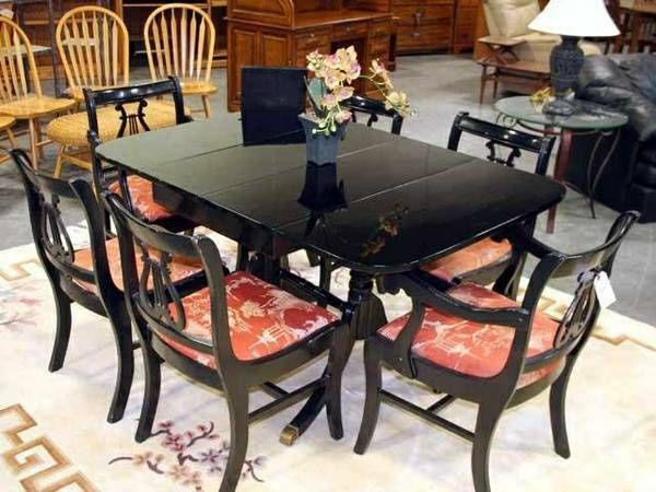Duncan Phyfe Dining Table Painted Black Lacquer To Paint Mine Or Not That  Is The Question?