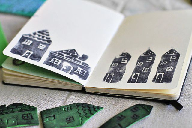 Make your own foam stamps via lilblueboo.com