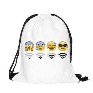 SAC À DOS Sac à Dos Emoji Cartable Toile Ecole Voyage Femme