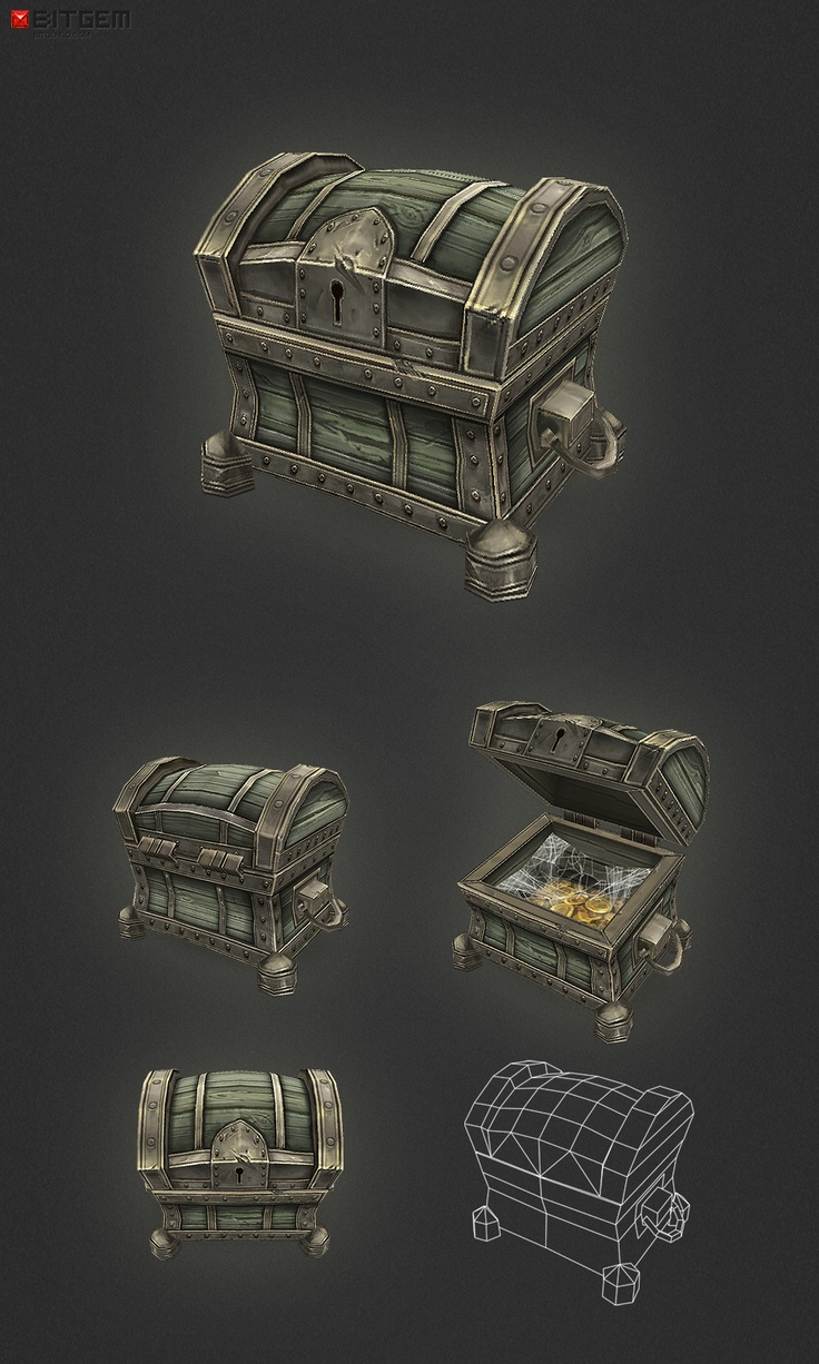 Low Poly Treasure Chest Small