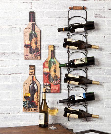 Hanging Metal Wine Rack