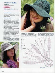 Вязаные летние шляпы. Вязание крючком