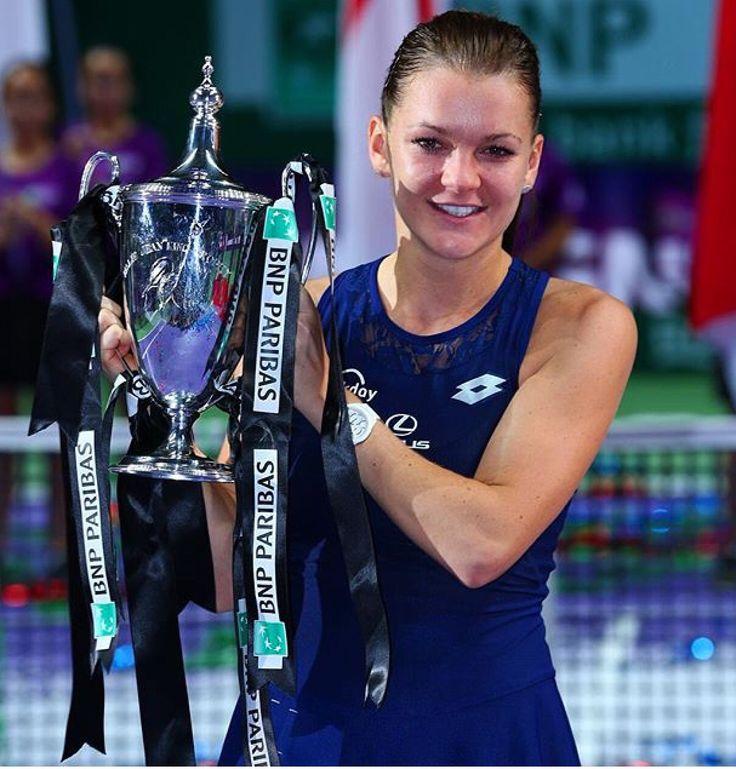 Aga Radwanska wins the 2015 WTA Finals in Singapore