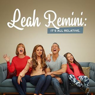 Leah and her husband Angelo star in a reality television series titled Leah Remini: It's All Relative. The show focuses on Remini's family life. It premiered on TLC on July 10, 2014. According to Remini, the purpose of the show is to highlight the fact that she's a normal person just like everyone else and that celebrity doesn't change that.