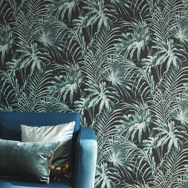 Non Woven Wallpaper Green Foliage Leroymerlin Papierpeint