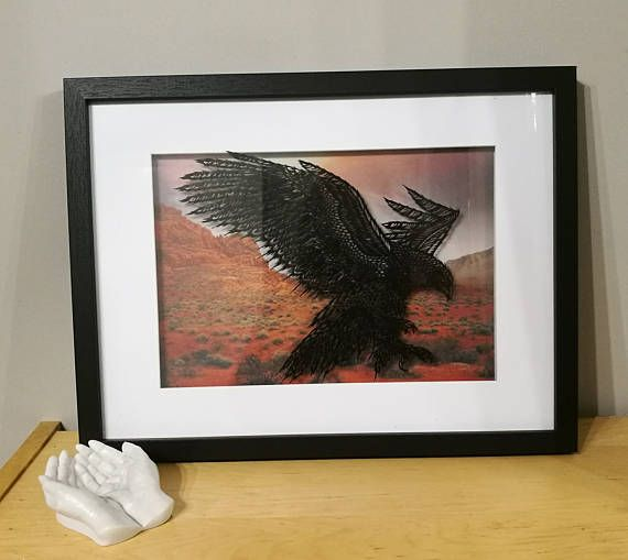 Hey, I found this really awesome Etsy listing at https://www.etsy.com/uk/listing/511119594/flying-golden-eagle-framed-papercut