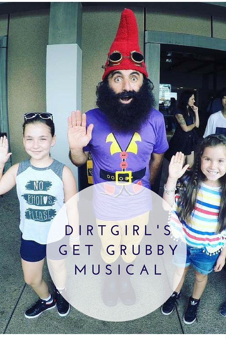 DirtGirl's Get Grubby Musical is suitable for 2-8 year olds. Tickets are available via the Sydney Opera House with the show running daily