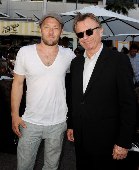"Sam Neill Photos Photos - Actors Joel Edgerton (L) and Sam Neill pose at the pre-party for the premiere of ""Legend of The Guardians: The Owls of Ga'Hoole"" at the Chinese Theater on September 19, 2010 in Los Angeles, California. - Premiere Of ""Legend Of The Guardians: The Owls Of Ga'Hoole"" - Pre-Party"