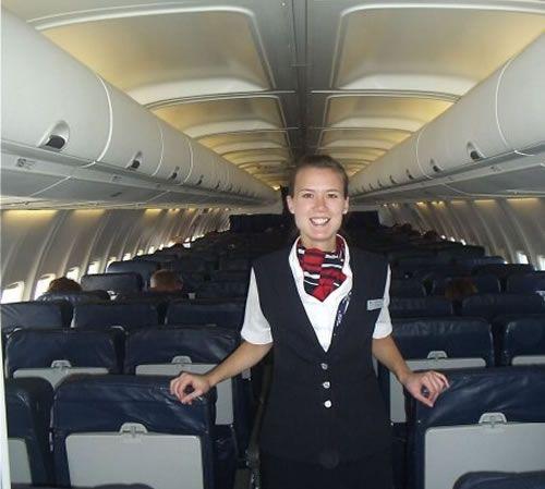 nicola aboard her ba flight