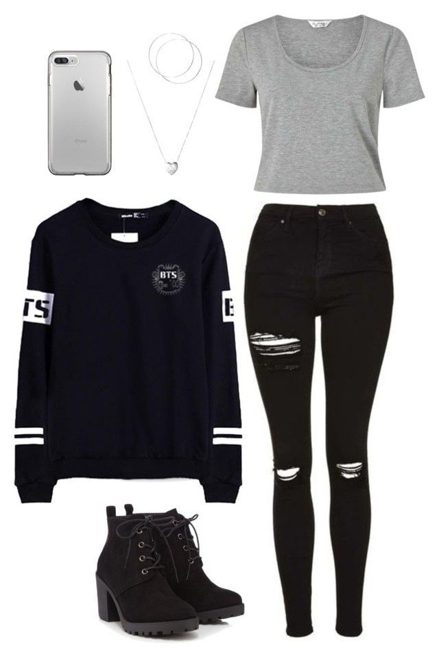 bts by larissaymd on Polyvore featuring polyvore mode style Miss Selfridge Red Herring Links of London fashion clothing