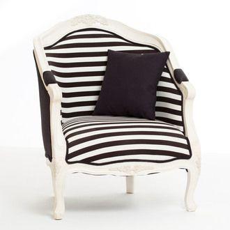 Fauteuil cabriolet tissu style baroque contour bois HUGO Mathilde et Pauline port offert