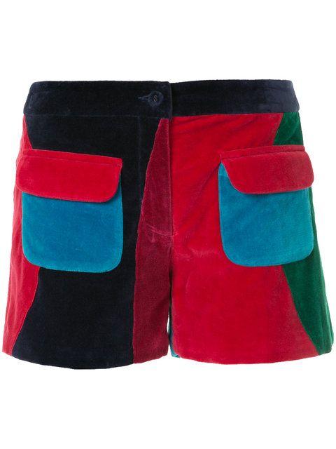 Shop Manish Arora patch pocket shorts.